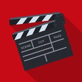 Movie cracker.Making movie single icon in flat style vector symbol stock illustration web. Stock Photos