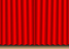 Movie curtain. Closed red movie curtain_Stage theartre royalty free illustration