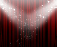 Movie curtain Royalty Free Stock Images