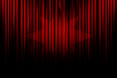 Movie curtain Stock Image