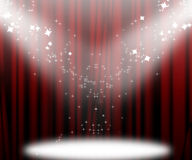 Movie curtain Stock Photo