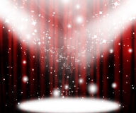 Movie curtain Stock Photography