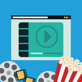 Movie digital design Stock Photography