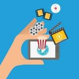 Movie digital design Stock Images