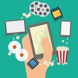 Movie digital design Stock Image