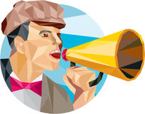 Movie Director Bullhorn Low Polygon Stock Photo