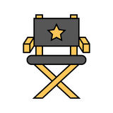 Movie director chair icon. Vector illustration design Stock Image