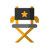Movie director chair icon. Vector illustration design Royalty Free Stock Photo