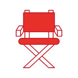 Movie director chair icon. Vector illustration design Royalty Free Stock Images