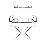 Movie director chair icon Royalty Free Stock Photo