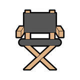 Movie director chair icon. Vector illustration design Stock Photography