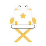 Movie director chair icon. Vector illustration design Stock Images