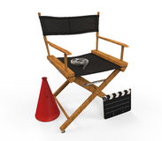 Movie Director Chair. Isolated on white background. 3d render Stock Image