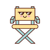 Movie director chair kawaii character. Vector illustration design Royalty Free Stock Photos