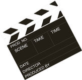 Movie director clapper-board Royalty Free Stock Photos