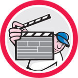 Movie Director Holding Clipboard Cartoon Royalty Free Stock Image