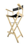 Movie director`s chair. Isolated on white background. 3D rendering Stock Photo