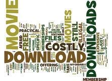 Are Movie Downloads Costly Word Cloud Concept. Are Movie Downloads Costly Text Background Word Cloud Concept Royalty Free Stock Photography