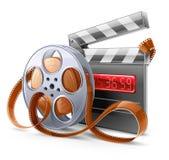 Movie Elements. Vector illustration of cinema theme on light background Royalty Free Stock Photos