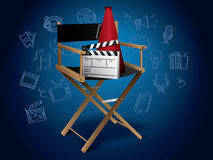 Movie Elements with Doodles Stock Images