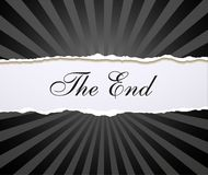 Movie ending Royalty Free Stock Images
