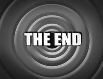 Movie ending screen Stock Images