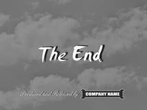 Movie ending screen Stock Photos