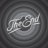 Movie ending screen background Royalty Free Stock Image