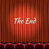 Movie ending screen vector concept background  Stock Images