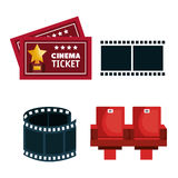 Movie entertainment elements icon