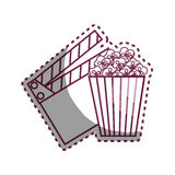 Movie entertainment set icons Royalty Free Stock Image