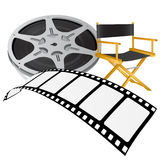 Movie equipments vector. Set of movie equipments vector Royalty Free Stock Image
