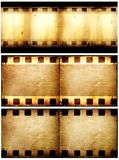 Movie film. Close up of vintage movie film strips Royalty Free Stock Photo