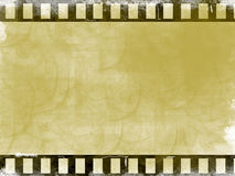 Movie film. Brown film background. old illustration, computer generated design Stock Photography