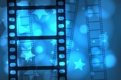 Movie film. Abstract background with a celluloid movie film. EPS10 vector Stock Images