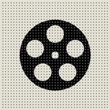 Movie and film abstract dot pattern background Stock Images