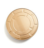 A movie film canister on white. A Gold movie film canister on a white background Royalty Free Stock Photos