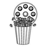 movie film clipart with pop corn icon Royalty Free Stock Image
