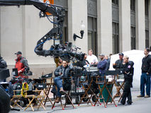 Movie Film Crew on location RIPD movie Royalty Free Stock Photo