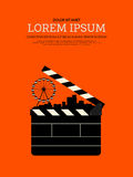 Movie and film modern retro vintage poster background Royalty Free Stock Photos
