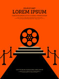 Movie and film modern retro vintage poster background Stock Photography