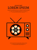 Movie and film modern retro vintage poster background Stock Image