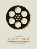 Movie and film modern retro vintage poster background Royalty Free Stock Photography