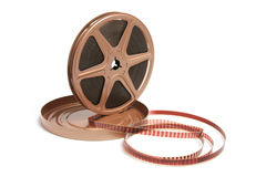 Movie Film Reel. On White Background Stock Photos