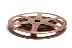 Movie Film Reel. On White Background Stock Photo