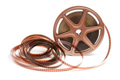 Movie Film Reel. On White Background Royalty Free Stock Photography