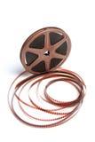 Movie Film Reel. On White Background royalty free stock photos