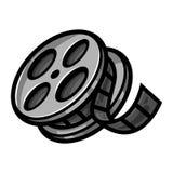 Movie Film Reel. Movie Cinema Theater Screening Film Reel vector icon Royalty Free Stock Images