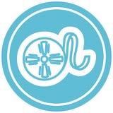 Movie film reel circular icon. A creative illustrated movie film reel circular icon image stock illustration