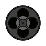 Movie film reel icon Stock Images